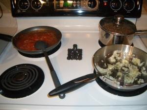 Enchilada Sauce, Pinto Beans & starting Pasta Sauce